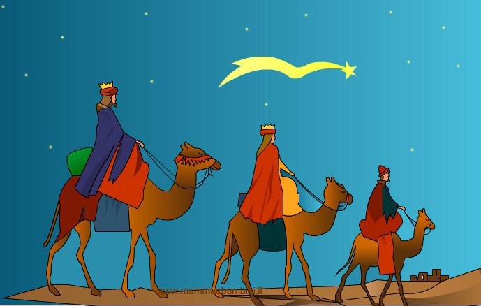 I Re Magi rappresentano il viaggio della stella cometa
