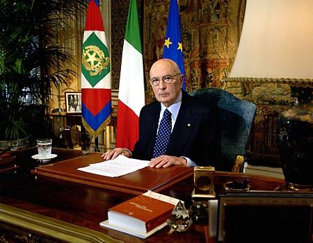 Il presidente della Repubblica uscente, Giorgio Napolitano
