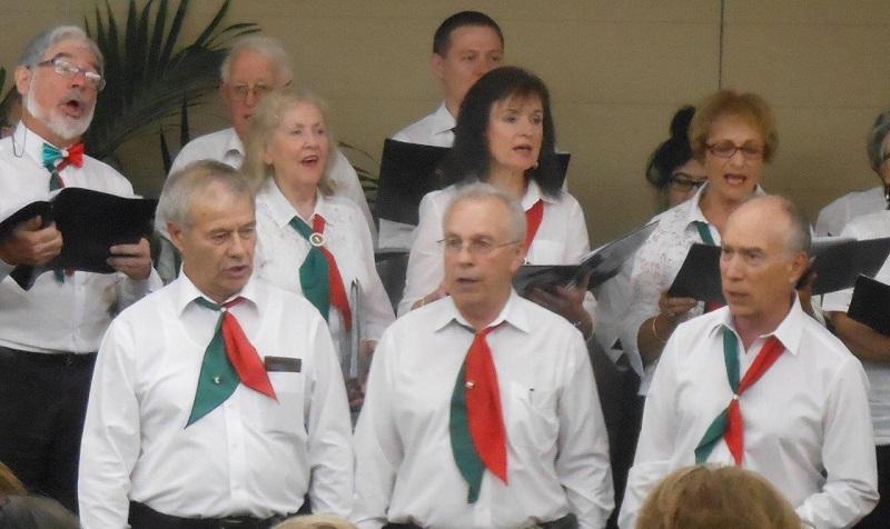 I tre tenori del coro DMV: Giovanni, Saverio e Livio