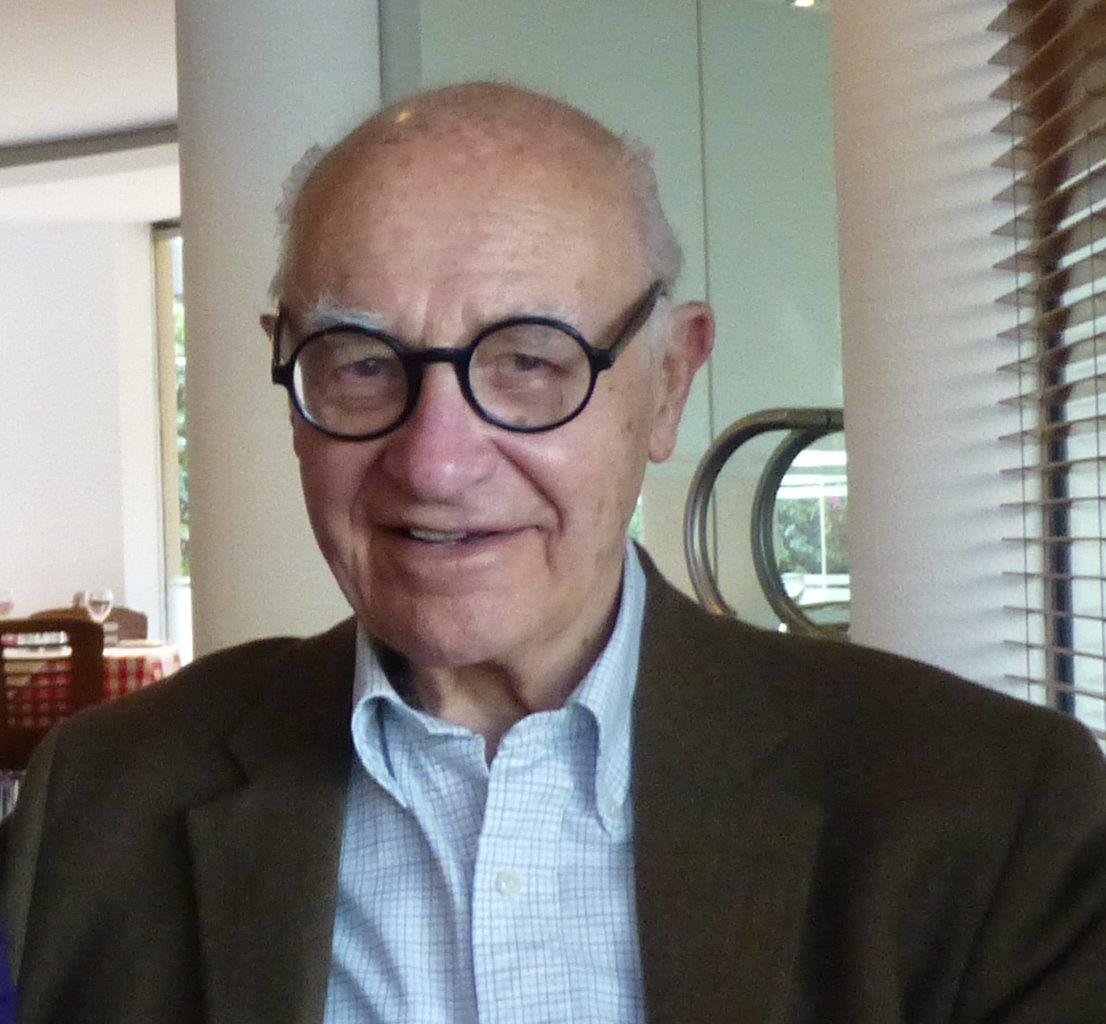 A May 2013 photo of Aldo Giurgola at the Santa Lucia restaurant