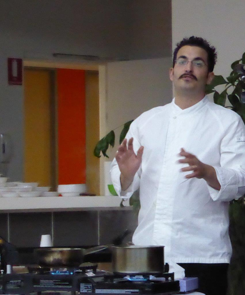 Chef Francesco demonstrates how to prepare Salsa amatriciana