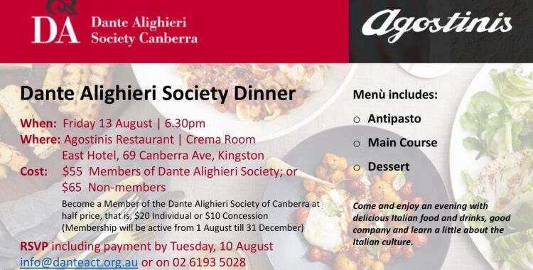 Dante Alighieri Society Dinner